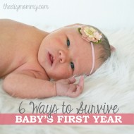 6 Ways to Survive Baby's First Year (+ Win a $50 Sears Gift Card!) #SearsMom