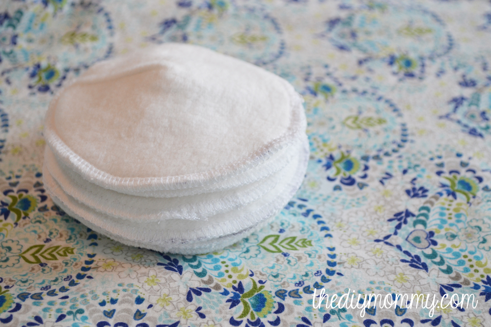 How to sew super absorbent DIY nursing pads that actually work! There's a special fabric inner layer.