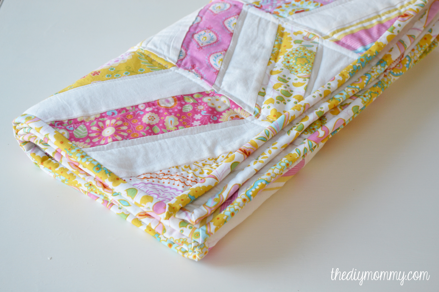 Sew an easy herringbone baby quilt the diy mommy diy herringbone chevron baby quilt tutorial the diy mommy jeuxipadfo Gallery