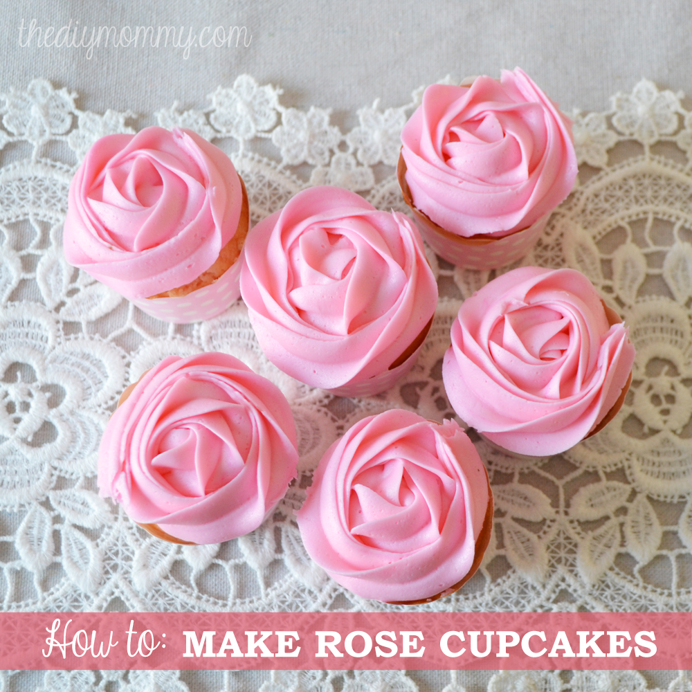 how to make roses cupcakes