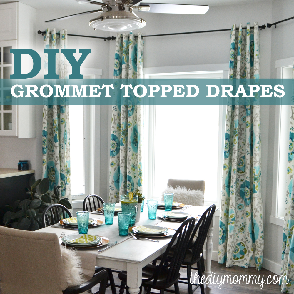 How To Make Unlined DIY Drapes With An Easy Grommet Top