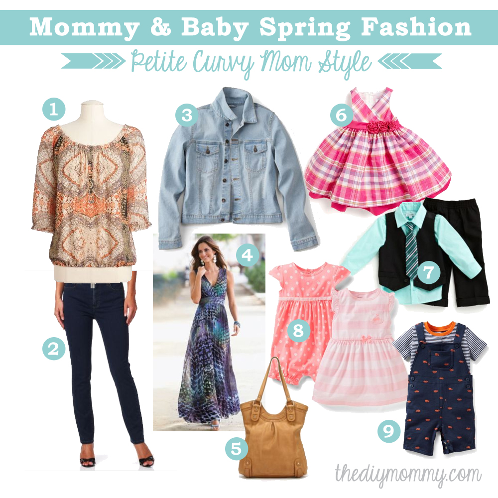 Mommy & Baby Spring Fashion - Petite Curvy Mom Style #SearsMom
