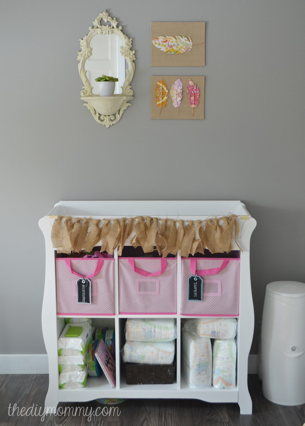 Soft Boho Baby Nursery by The DIY Mommy