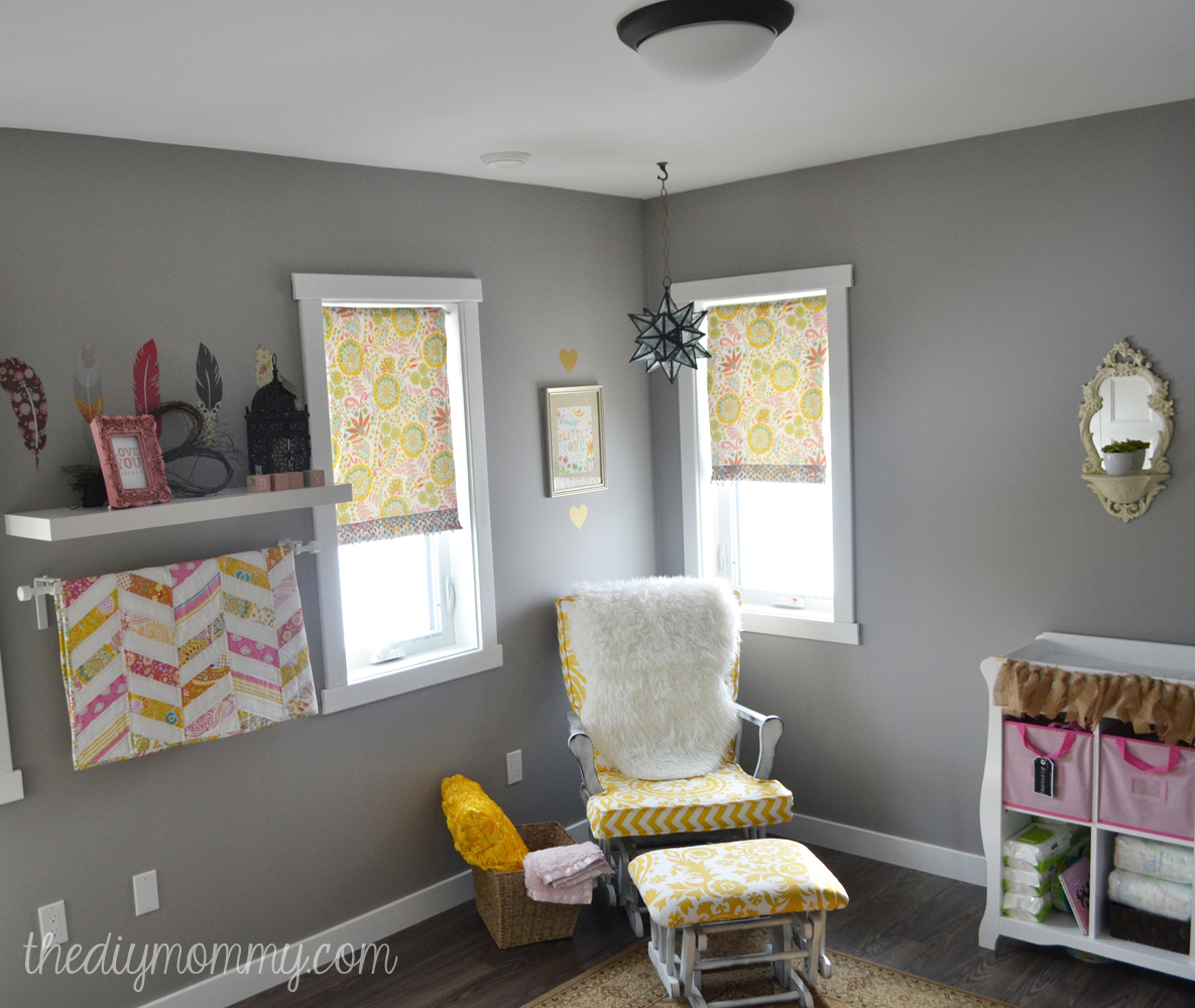 Soft Boho Baby Nursery by The DIY Mommy