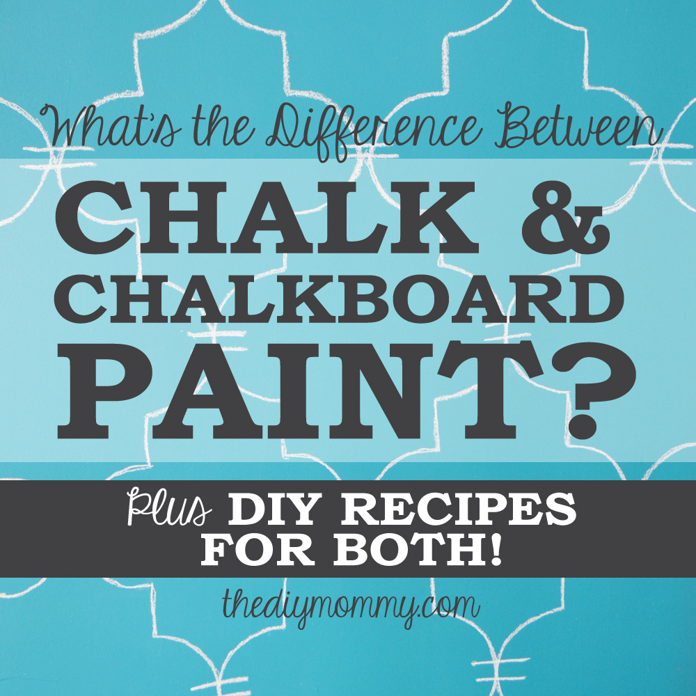 What's the difference between chalk and chalkboard paint? Here's an explanation plus DIY recipes to make both!
