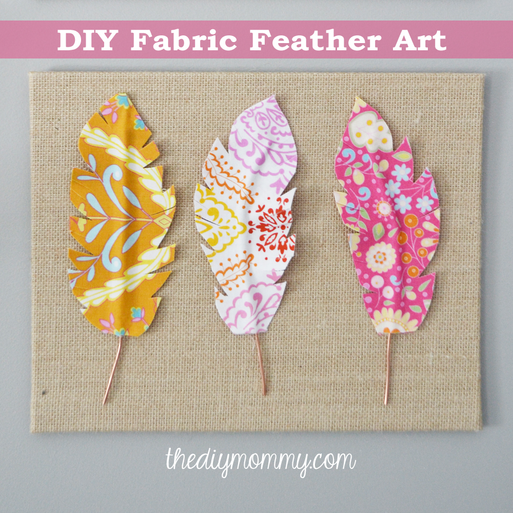 DIY Fabric Feather Wall Art   Just Use Wire, Fabric, U0026 Some Heat U0027