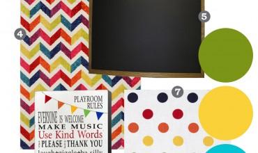 Mood Board: White & Bright Playroom