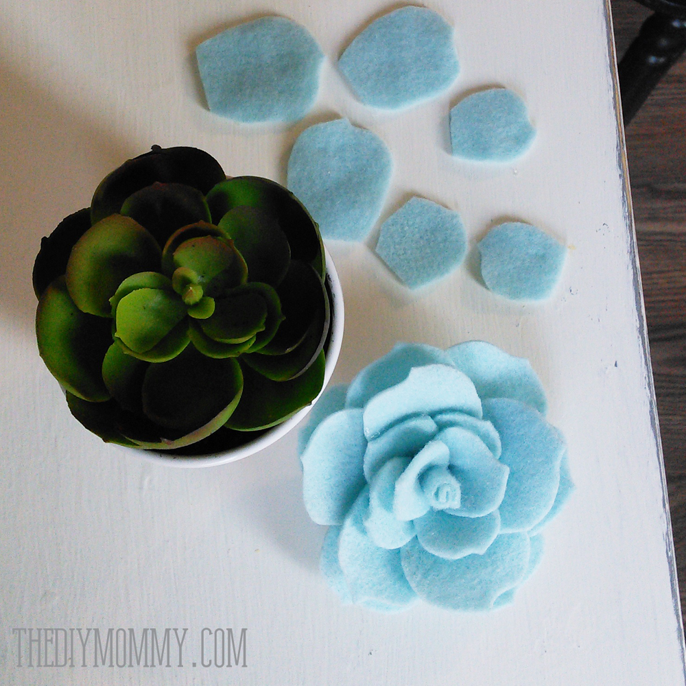 Easy DIY Felt Succulents