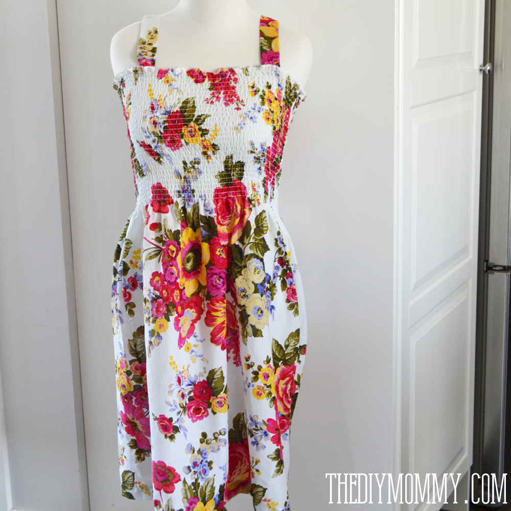 a27e0f8ea80 Sew an easy summer dress with pre-shirred fabric.