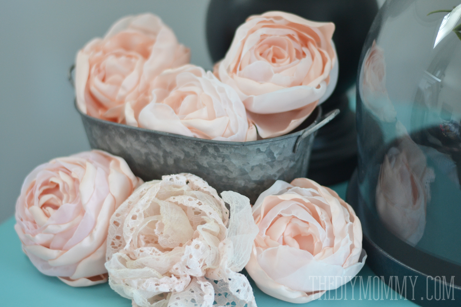 A free tutorial and pattern for how to make fabric peonies and roses diy fabric peonies or cabbage roses tutorial by the diy mommy have fun making your flowers izmirmasajfo