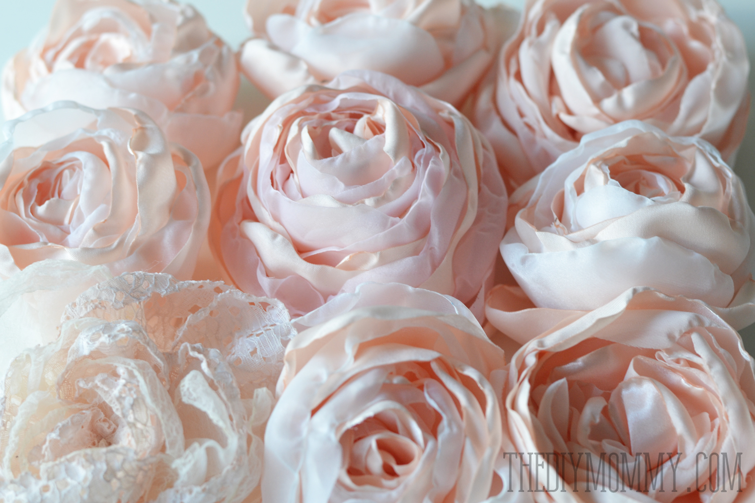 Sew Fabric Peonies And Cabbage Roses The Diy Mommy