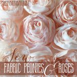 DIY Fabric Peonies or Cabbage Roses Tutorial by The DIY Mommy