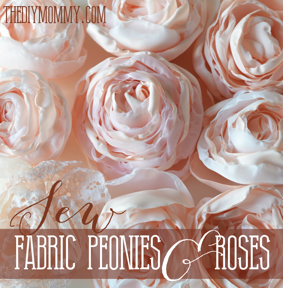 Sew Fabric Peonies And Cabbage Roses