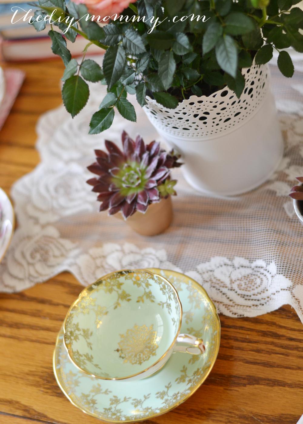 A Vintage Bridal Shower Craft & Tea