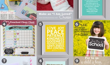 9 Favourite Free Printables from The DIY Mommy