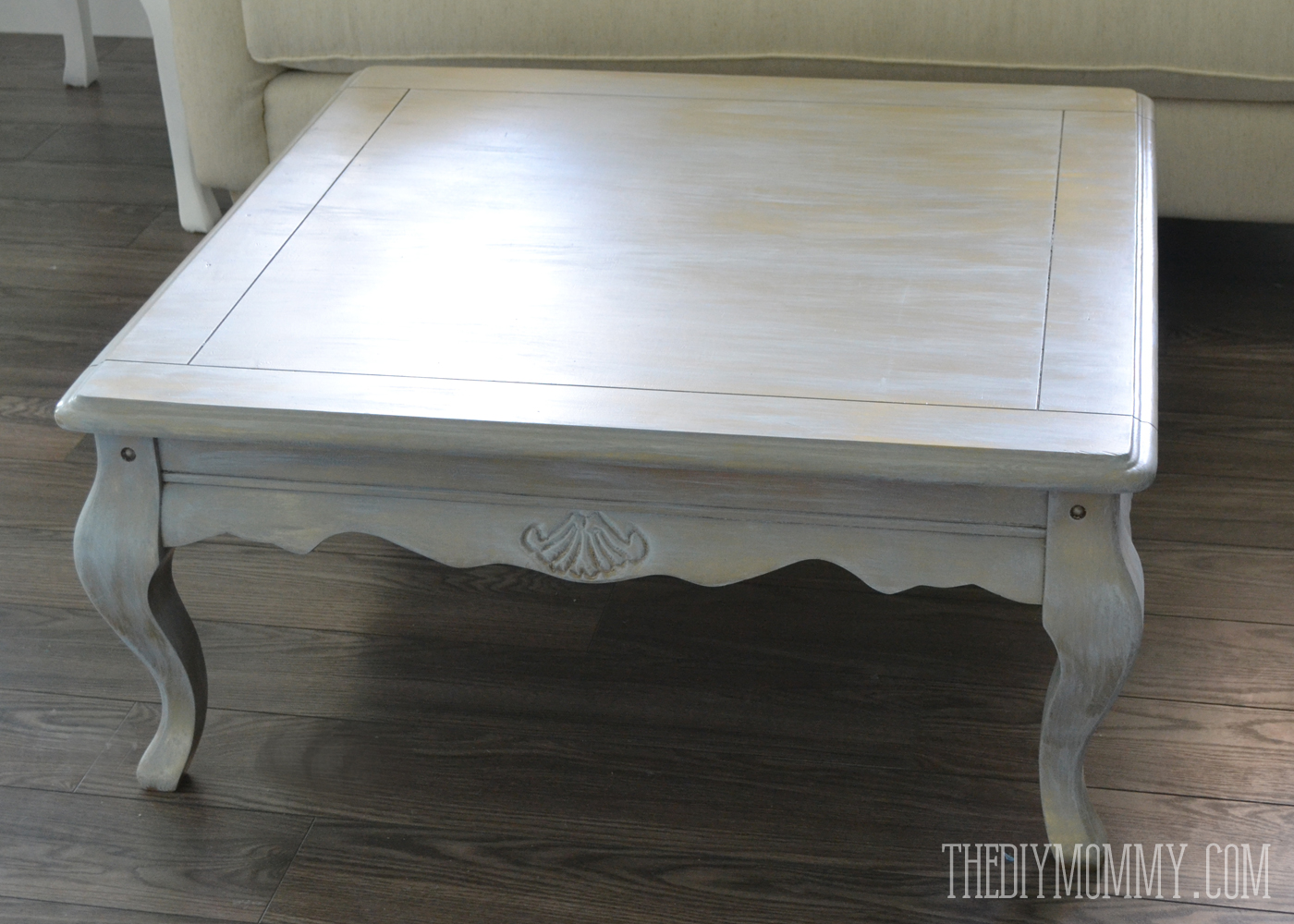 Upcycled Gold Dry Brushed Table How To Dry Brush
