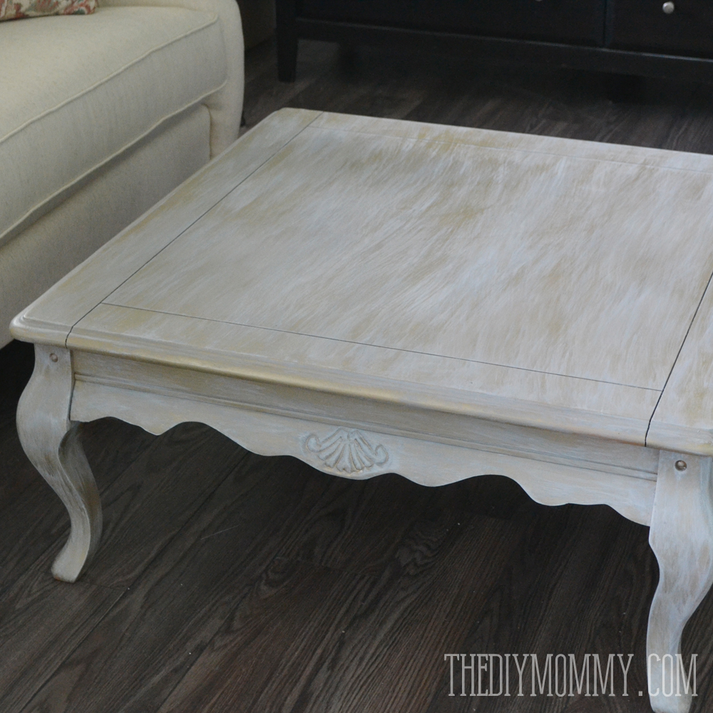 DIY Gold Dry Brushed Coffee Table