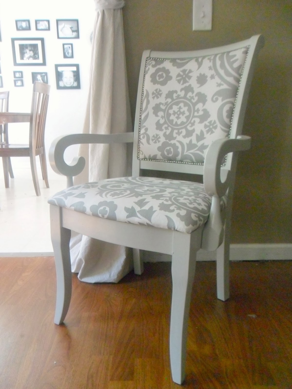 DIY Reupholstered Chair