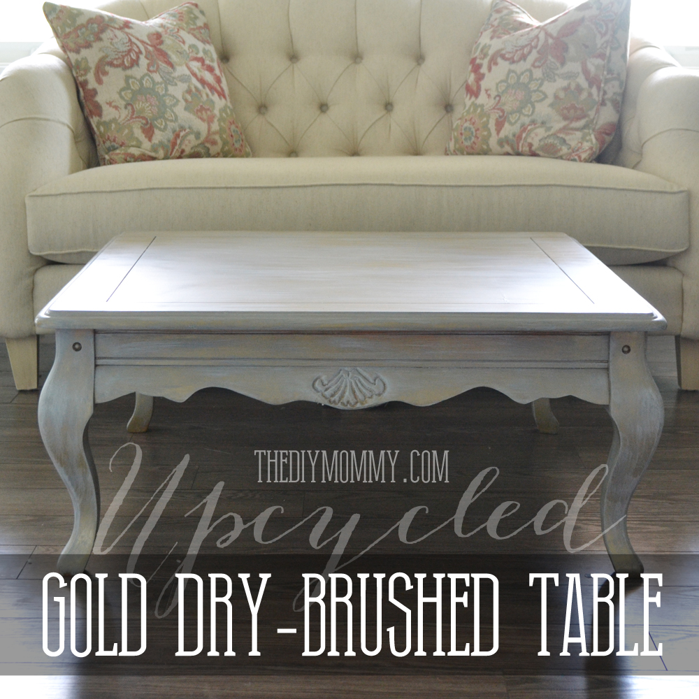garage sale table ideas - Upcycled Gold Dry Brushed Table How to Dry Brush