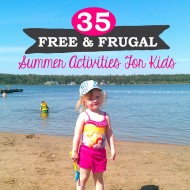 35 Free & Frugal Summer Activities for Kids #KinderMom