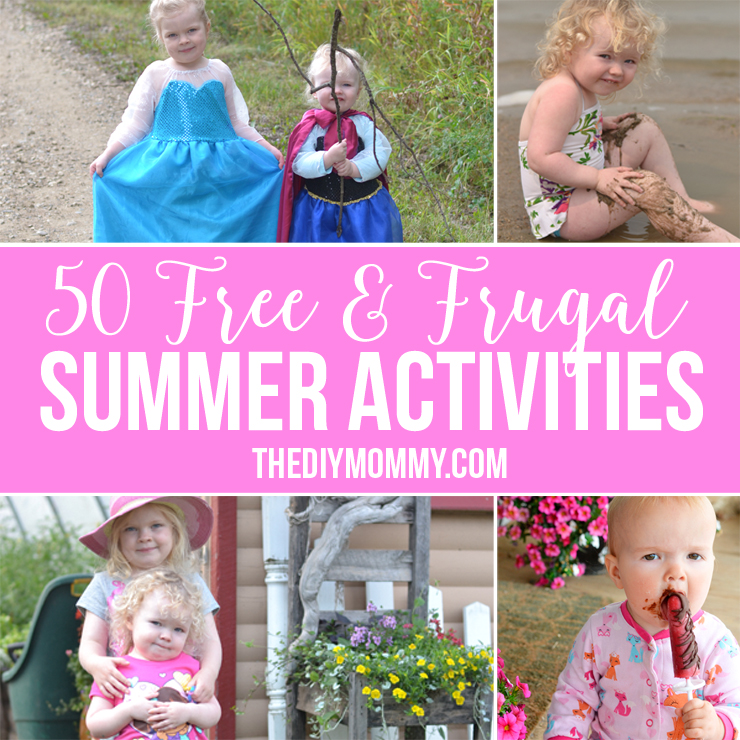 50 summer activity ideas for kids that hardly cost anything!