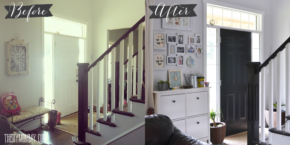 Before and After: Making the most of a narrow, small entry
