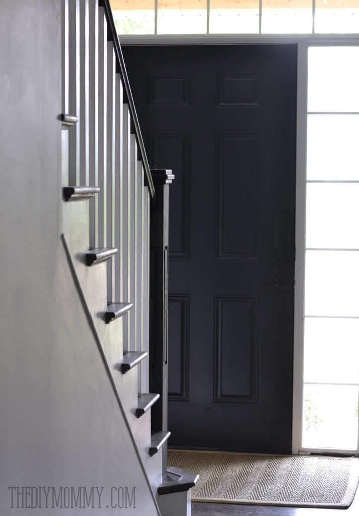 Painting a front door black
