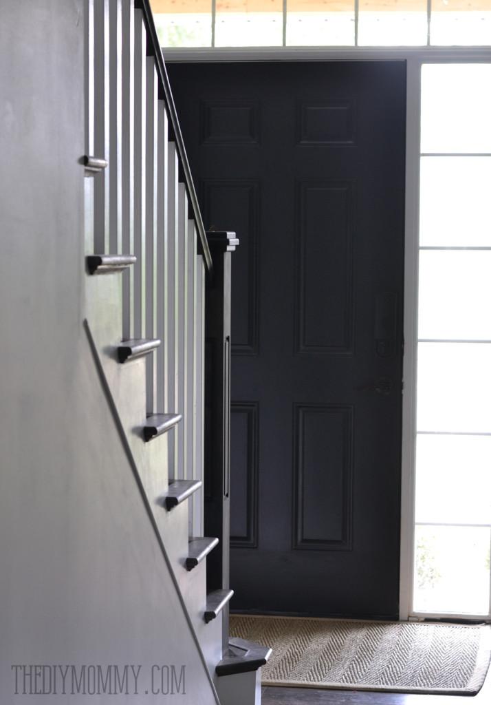 Painting a front door black