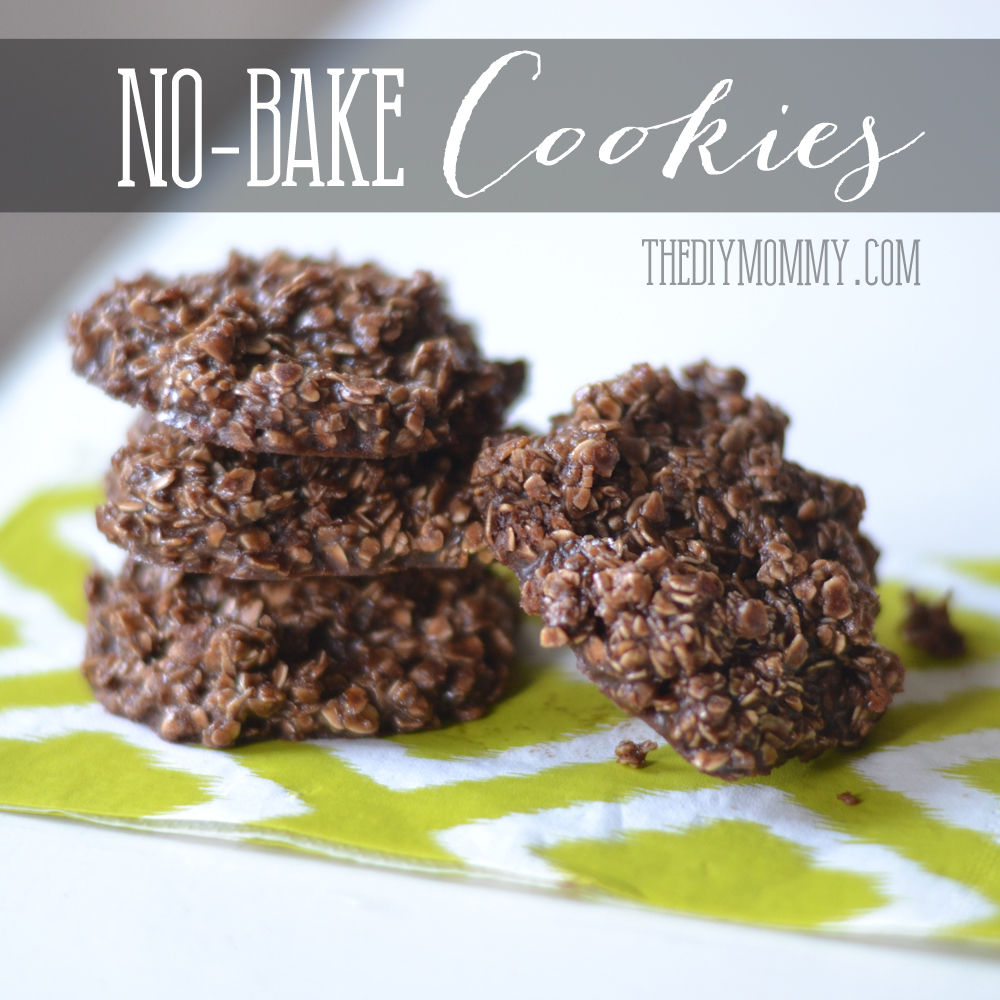 Chocolate Oatmeal No Bake Cookies by The DIY Mommy