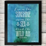Free Summer Printable Artwork - Live in the Sunshine, Ralph Waldo Emerson