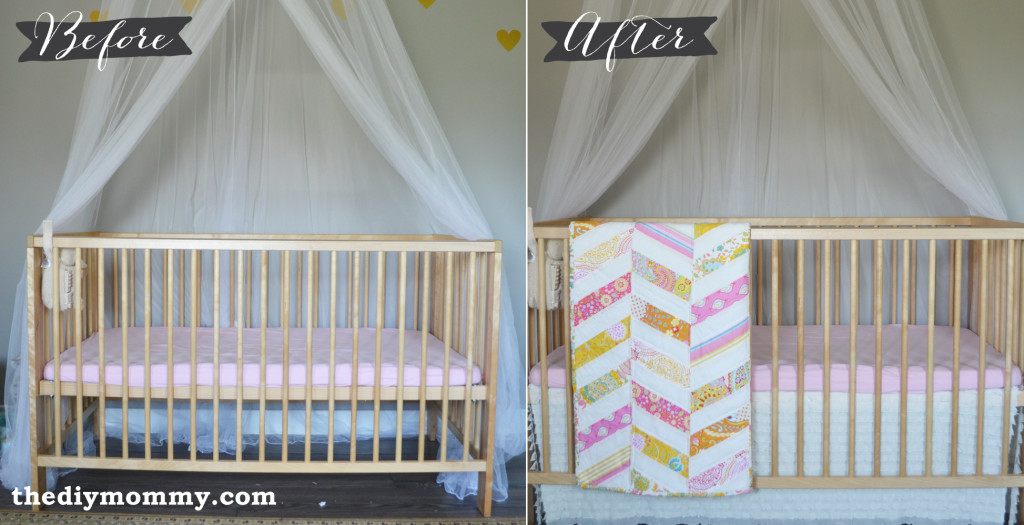 Sew An Easy Ruffled Crib Dust Ruffle The Diy Mommy