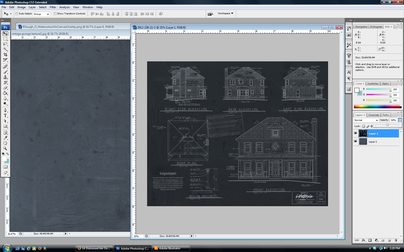 Make vintage blueprint artwork from your house plan with photoshop how to make restoration hardware inspired vintage blueprint artwork from your house plan malvernweather Gallery