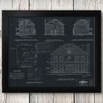 How to make Restoration Hardware inspired vintage blueprint artwork from your house plan