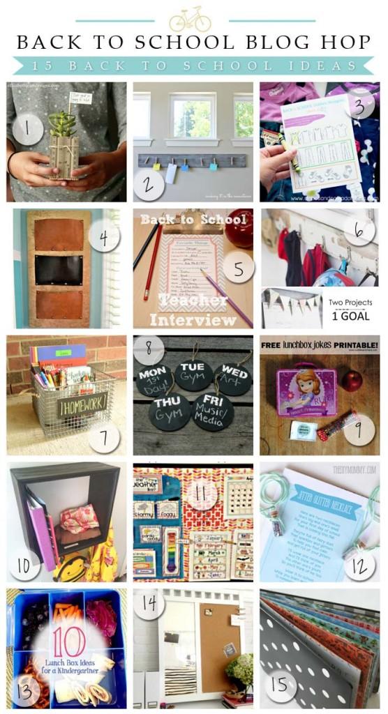 Back to School DIY Blog Hop - Tons of great back to school tutorials!