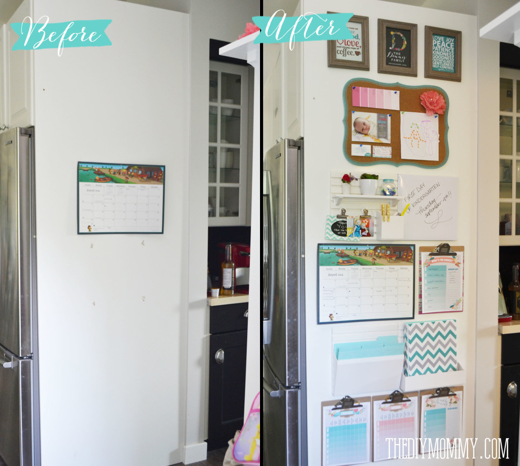 Diy Back To School Kitchen Command Centre From Staples Free Printables The Diy Mommy