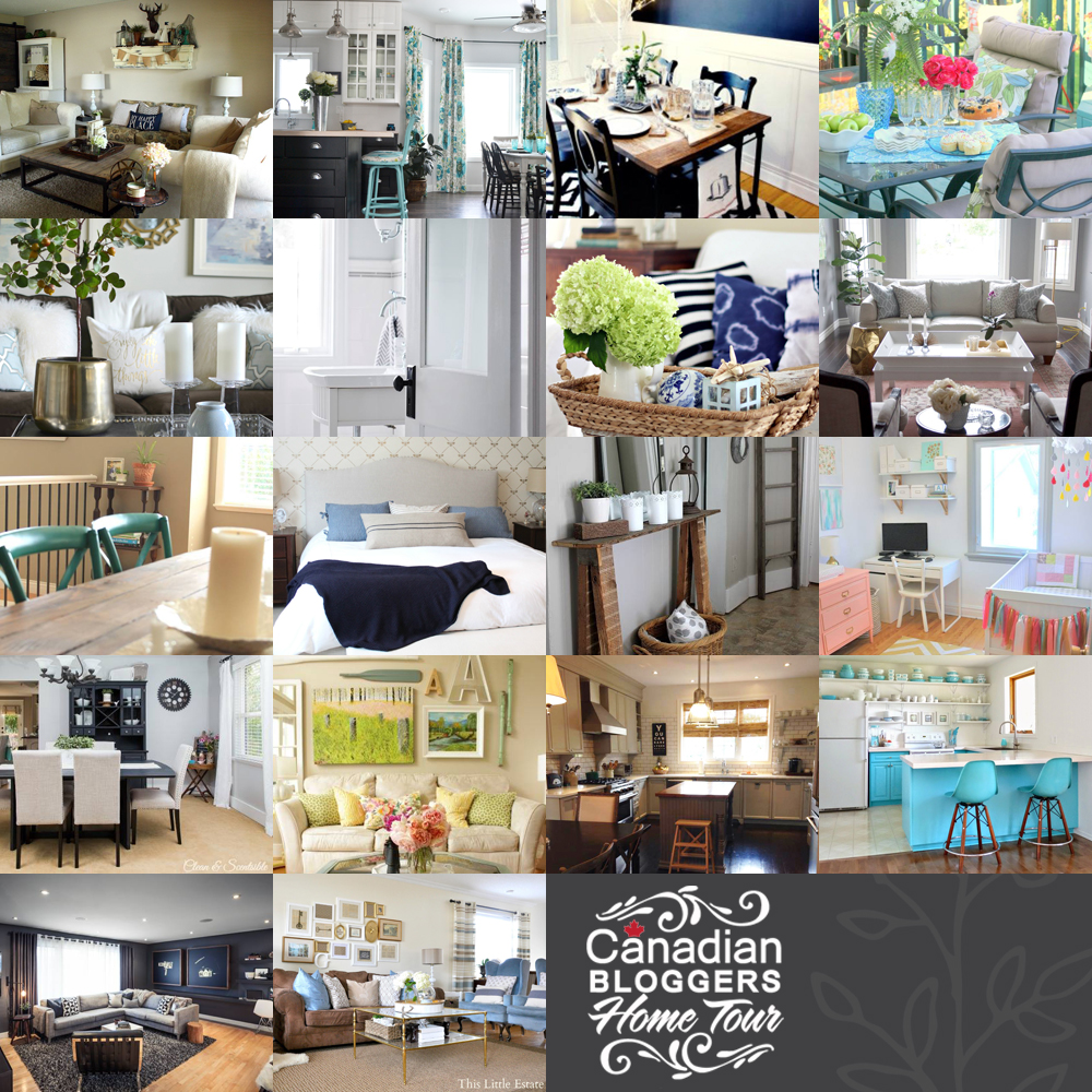 Canadian Bloggers Home Tour 2014: Tour 18 beautiful Canadian homes