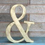 DIY Ampersand from foam