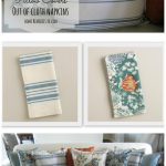 DIY Napkin pillow covers
