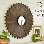 DIY sunburst mirror made out of wood shims!