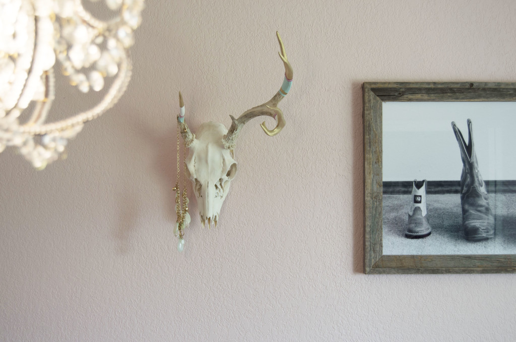 DIY Boho-Inspired Painted European Mount Antlers