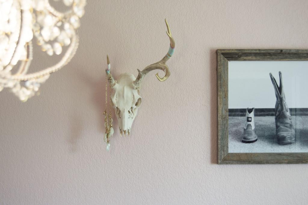 DIY Boho-Inspired Painted European Mount Antlers