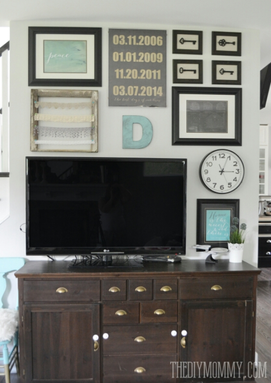 Vintage Industrial Budget DIY TV Gallery Wall