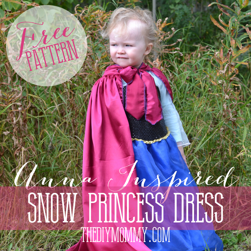 DIY Anna Inspired Snow Princess Dress - Free Pattern & Tutorial