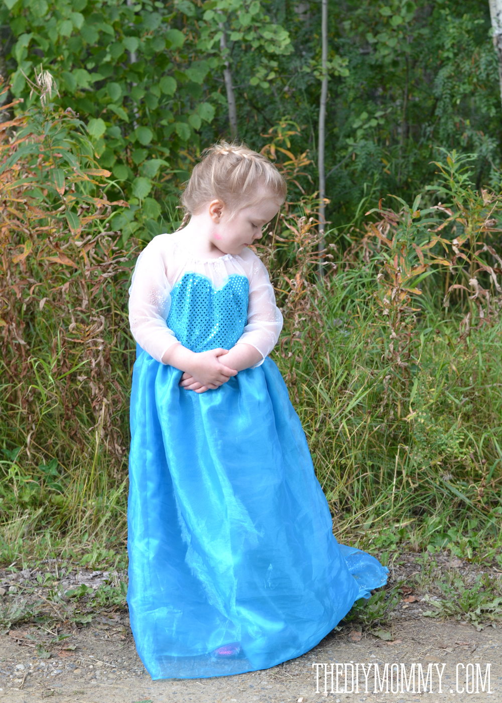 DIY Elsa Inspired Snow Princess Dress - Free Pattern & Tutorial