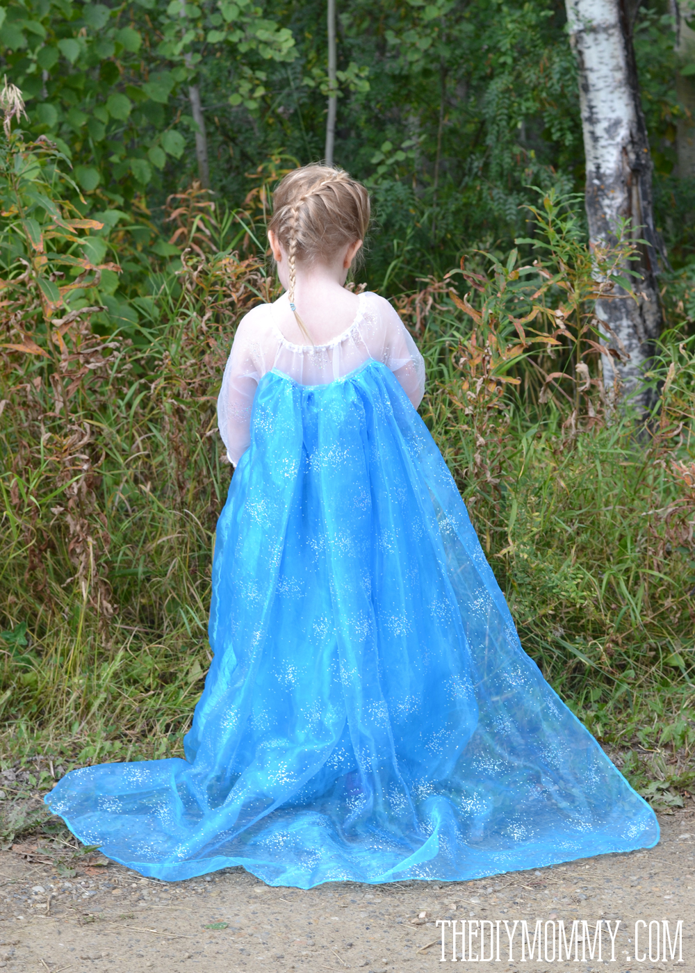 DIY Elsa Inspired Snow Princess Dress - Free Pattern u0026 Tutorial & Free Pattern and Tutorial for a Frozen Inspired Elsa Dress Costume ...
