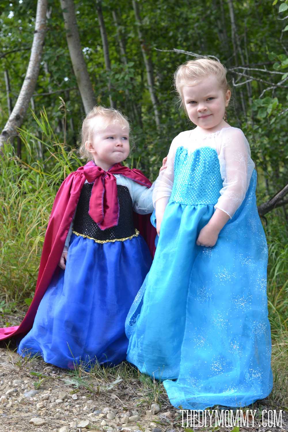 Free Pattern and Tutorial for Frozen Elsa and Anna Dresses  sc 1 st  The DIY Mommy & Free Pattern and Tutorial for a Frozen Inspired Elsa Dress Costume ...