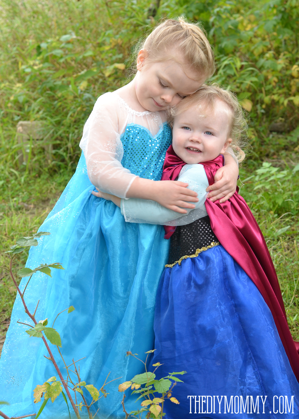Free Pattern and Tutorial for Frozen Elsa and Anna Dresses  sc 1 st  The DIY Mommy : baby frozen anna costume  - Germanpascual.Com