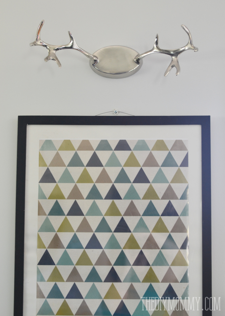 Faux Antlers over a Geometric Print