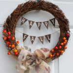 Fall Burlap and Berry Wreath