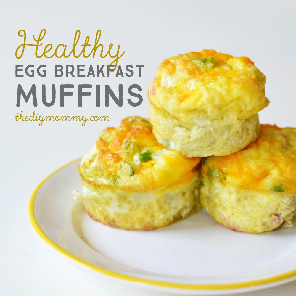Bake Healthy Egg Breakfast Muffins The Diy Mommy
